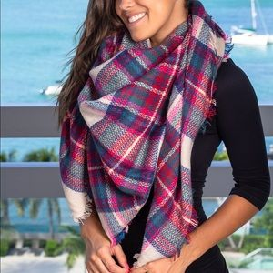 🍁Plaid Blanket Scarf